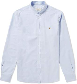 MAISON KITSUNÉ Fox Head Patch Button Down Oxford Shirt