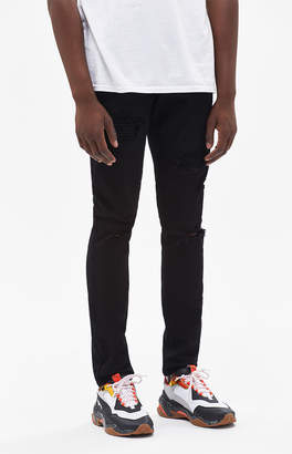 Pacsun Skinny Ripped Black Jeans
