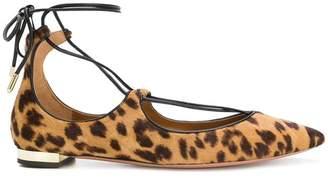 Aquazzura leopard print ballerinas flat