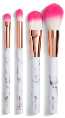 Skinny Dip Pink Marble Professional Brush Set $35 thestylecure.com