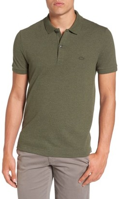 Men's Lacoste Pique Polo With Tonal Croc $98 thestylecure.com