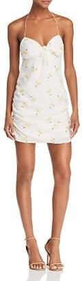 For Love & Lemons Ashland Cherry-Print Halter Dress