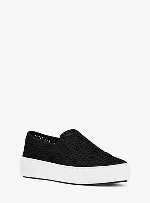 Michael Kors Trent Perforated Leather Slip-On Sneaker
