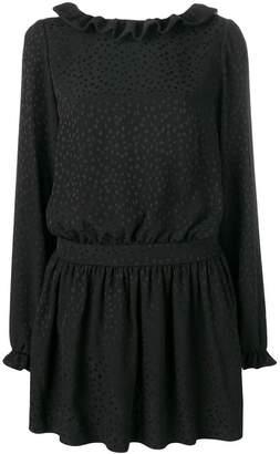 Saint Laurent flocked mini dress