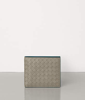 Bottega Veneta BI-FOLD WALLET IN INTRECCIATO VN AND NAPPA