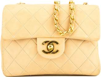 Chanel Beige Quilted Lambskin Square Mini Classic Flap (7000241)