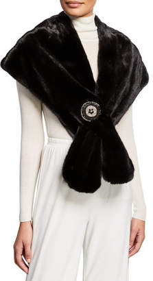 Carolyn Rowan Mink Fur Stole With Frayed Chain