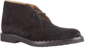 Valentino Rockstud Suede Desert Boots