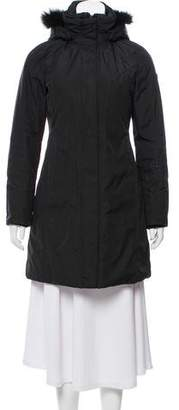 Post Card Faux Fur-Trimmed Puffer Jacket
