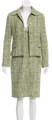 Dolce & Gabbana Tweed Lace-Paneled Dress Set