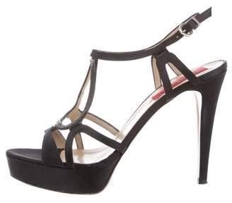 Br.Uno Ricci for Diane B. Satin Embellished Sandals