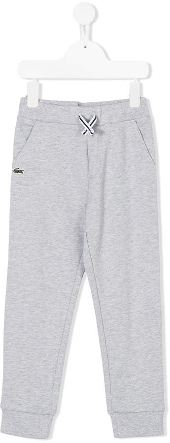 Lacoste Kids logo patch track pants