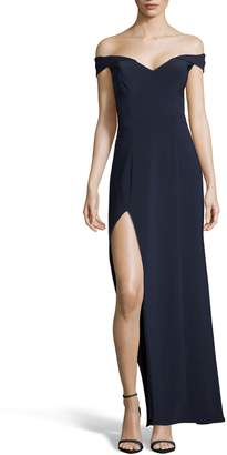 Xscape Evenings Off the Shoulder Jersey Gown