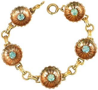 One Kings Lane Vintage 1940s Iskin Blue Crystal & Cups Bracelet