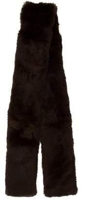 Armani Collezioni Brown Fur Stole