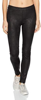 Blanc Noir Women's Leather Like Legging