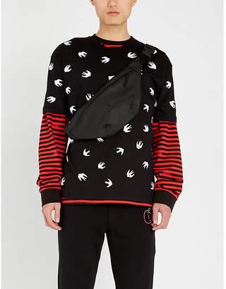 McQ Swallow-print cotton-blend T-shirt