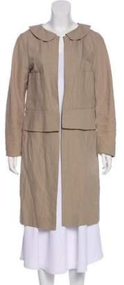 Marni Linen Peplum Coat