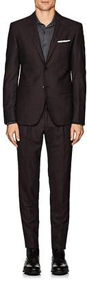 Pal Zileri MEN'S CHECKED WOOL-SILK TWO-BUTTON SUIT