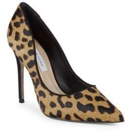 Saks Fifth Avenue Leopard Leather Pumps