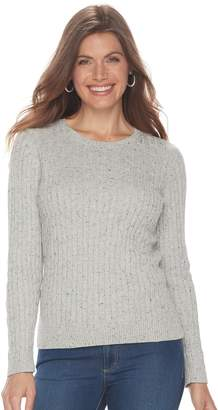 Croft & Barrow Petite Cable Knit Sweater
