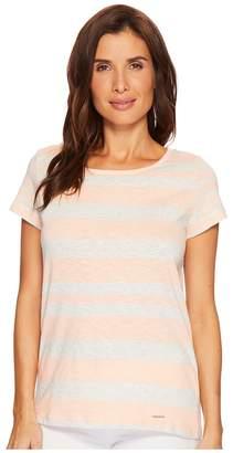 U.S. Polo Assn. Mixed Stripe Tie Back T-Shirt Women's T Shirt