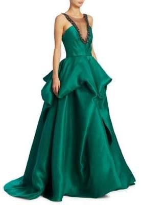 Monique Lhuillier Tufted Ball Gown