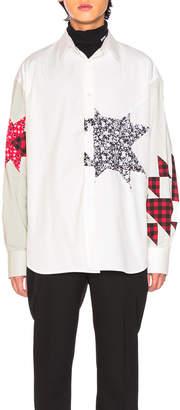 Calvin Klein Double Collar Patchwork Shirt