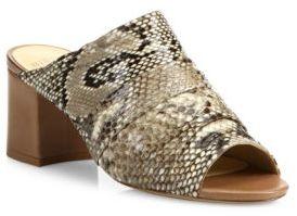 Alexandre BirmanPython Block Heel Mules