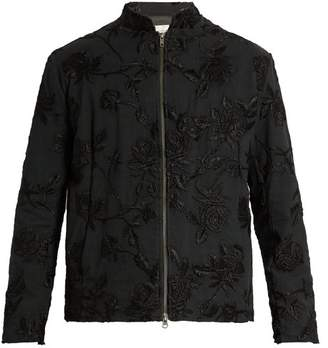 By Walid - Jacob Embroidered Cotton Canvas Jacket - Mens - Black