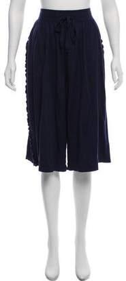 Saint Laurent Knee-Length Wide-Leg Shorts