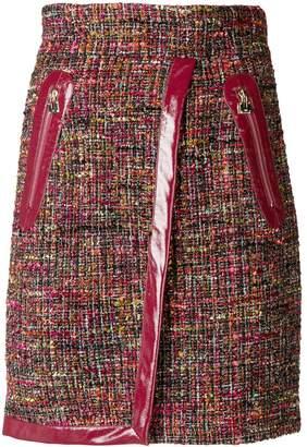 Elisabetta Franchi vernished high-waisted skirt
