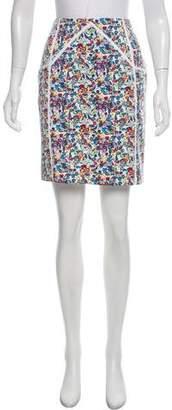 Versace Floral Print Mini Skirt