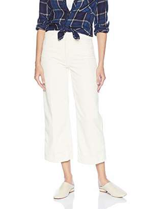 AG Adriano Goldschmied Women's Wale Cord Etta Wide Leg Crop