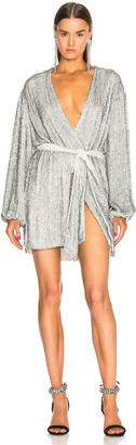 retrofete Gabrielle Robe Dress in Silver Sequin | FWRD