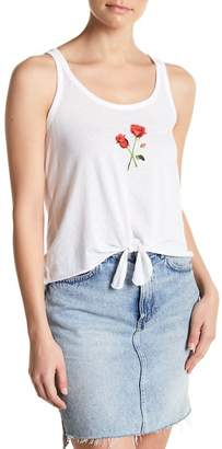 Chaser Graphic Tie Front Cami