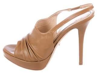 Jerome C. Rousseau Ruched Slingback Sandals