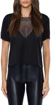 Koral Activewear Double Layer Tee with Mesh