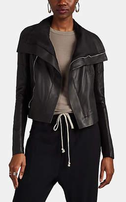 Rick Owens Women's Sisy Leather Biker Jacket - Black
