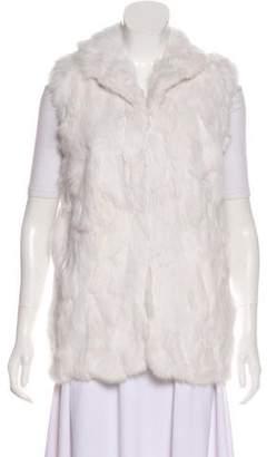 Adrienne Landau Rabbit Fur Sleeveless Vest w/ Tags
