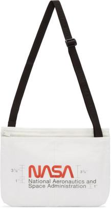 Heron Preston Off-White Nylon Messenger Bag