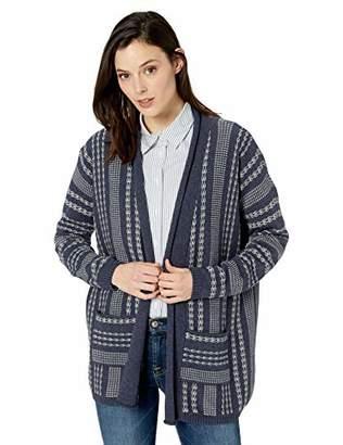 Pendleton Women's Drop Shoulder Stripe Cardigan Sweater,LG