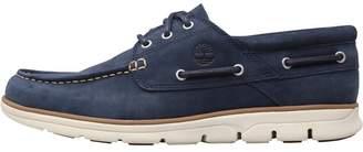 Timberland Mens Bradstreet 3 Eye Boat Shoes Black Iris
