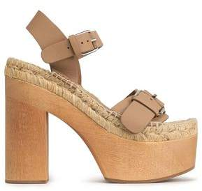 Paloma Barceló Palomitas By Buckled Leather Platform Sandals