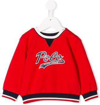 Ralph Lauren Kids Polo logo printed sweatshirt