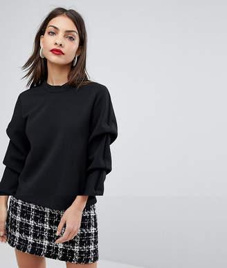 Selected Sweatshirt With Sleeve Detail