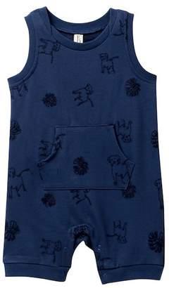 ED Ellen Degeneres Embroiderey Romper (Baby Boys 3-9M)