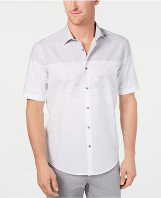 Alfani Men Colorblocked Textured-Stripe Shirt