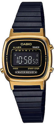 Casio G-Shock Women's Digital Black Stainless Steel Bracelet Watch 25mm
