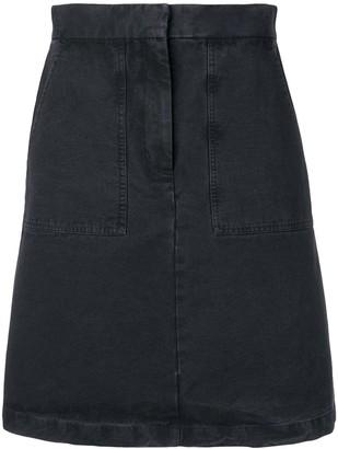 Masscob moss mini denim skirt
